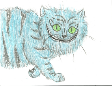 I try... I actually drew this. CHESHIRE KITTY!