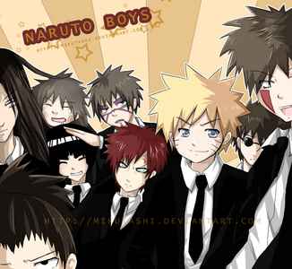 Naruto boys in suitS!<3