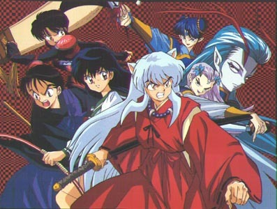 Movies: Spirited Away, Howl's Moving Castle, InuYasha the Movie: Affections Touching Across Time, InuYasha the Movie: The Castle Beyond the Looking Glass, InuYasha the Movie: Swords of an Honorable Ruler, InuYasha the Movie: Fire on the Mystic Island, Sailor Moon R: The Promise of the Rose, Sailor Moon S: Hearts in Ice, Sailor Moon SuperS: Black Dream Hole, OR Pokemon 3 The Movie – Spell of the Unknown.  Series: Bleach, Fullmetal Alchemist, Fullmetal Alchemist: Brotherhood, Tengen Toppa: Gurren Lagann, Code Geass, Fairy Tail, InuYasha, Sailor Moon, D.Gray-man, Katekyo Hitman Reborn, or Soul Eater.  Sorry if I listed something you've already seen. xD   *Picture from the first InuYasha movie 'Affections Touching Across Time'.