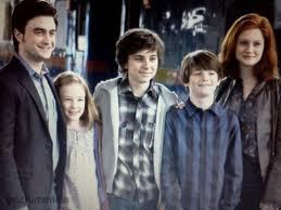 harry, ginny, and their kids