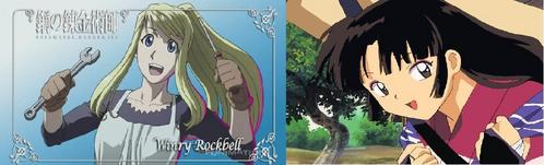 I would like to be Winry Rockbell and Sango because if I'm Winry i can meet Ed , Al and everyone from FMA and Brotherhood and if I'm Sango I get to meet InuYasha and the others , fight demons , hold a giant boomerang , ride Kirara and have a romantic relationship with Miroku!