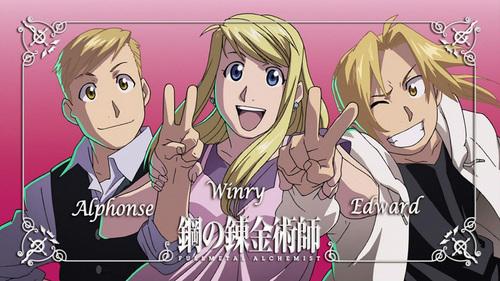 Winry,Ed and Al from Fullmetal Alchemist:Brotherhood