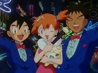 Well My Favorite Group as of right now is Satoshi (Ash),Kasumi (Misty) and Takeshi (Brock) from Pokemon!,mainly because I've been watching a lot of the Kanto and Johto episodes lately.