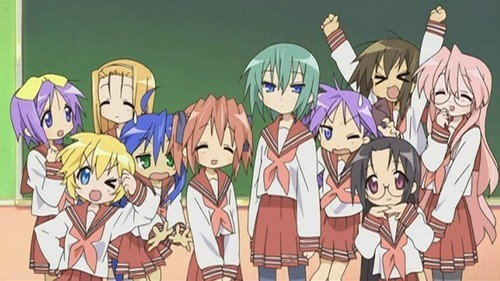 The Lucky Star characters!!!
