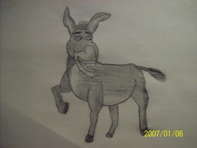 it's pretty good.(: what do u think of mine XD (the dates wrong) LOL XD Oh yeah, & one of his legs looks fuckin weird o_o. & this is donkey from Shrek. XD