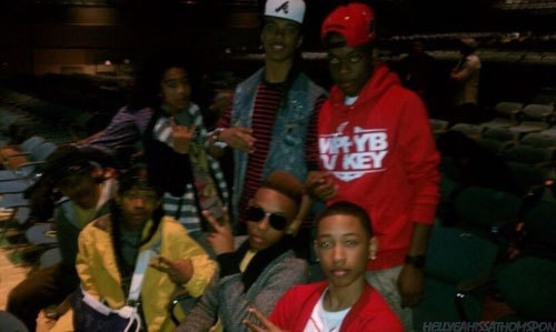 If you cant make out the picture or u have no idea who the hell these ppl r... Mindless Behavior Jawan Harris JAcob LAtimore and Issa Thompson.... I like em all haha *no one laughs* sigh if only someone got mii joke