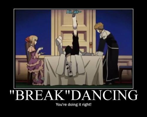 Break dancing XD