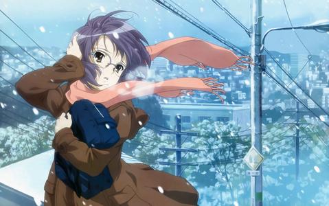 Yuki Nagato from the melancholy of haruhi suzumiya