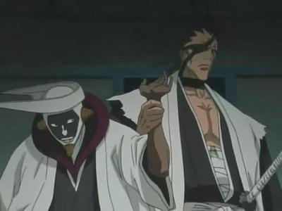 Kenpachi and Mayuri from Bleach :3