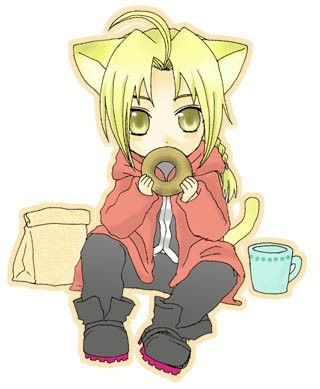 Alright how about this Picture of Neko Ed from FMA!x) he has a doughnut too x)