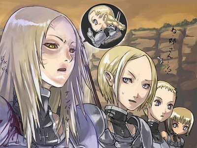 chibi picture of a episode from claymore.I LOOVE IT!