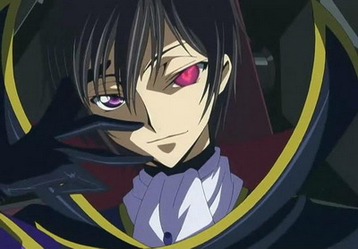 Lelouch from Code Geass.