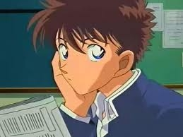 "People say I look like..... Kaitou Kid a.k.a. Koruba Kaitou I hate that look but people say that hair style looks hadsome...-_-"" XDXDXD My hair looks like a bird's nest..."