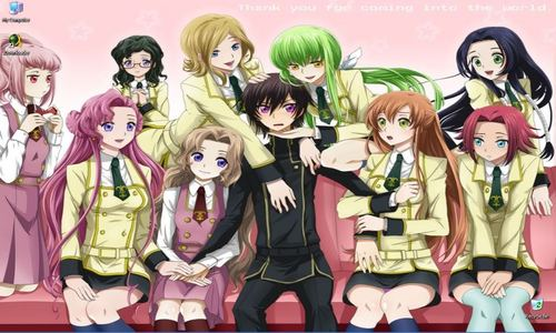 I usually prefer reverse Harem, though I watch both... Does Lelouch count? 'cuz he doesn't upendo them, and most of the girls doesn't upendo him back, but nevertheless, the shipping exists~ (CC, Kallen, Shirley, Euphie, Kaguya, etc)