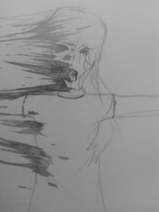 Of course I upendo drawing for people, but, I don't need any props. ^^ Here wewe are, scariest one in my sketch pad... .______.; I apologize for...the mass amounts of blood...