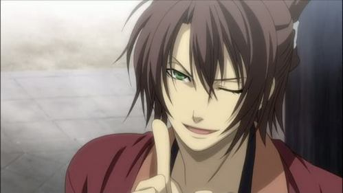 Okita Souji from Hakouki shinsengumi kitan n_n He is really sexy at least for me