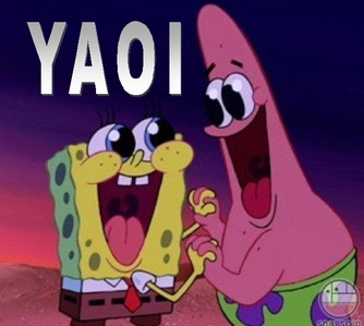 SPONGEBOB AND PATRICK! Now that we're men, We're going to Shell City, Get the crown, save the town and Mr. Krabs They saved the town! And plus they became super heros for Mermaid Man in one episode when Barnacle boy went evil! >3< Really, then Batman.