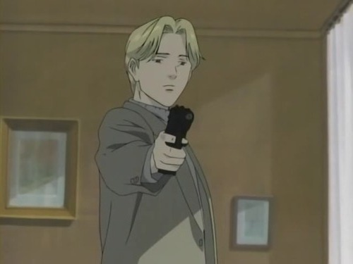 Johan Liebert from monster he does good things just in bad was. example he kills people who have done bad, like there three copes who torture a guy to get info, johan shot them.