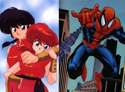 """I guess some of them are. Ranma and aranha Man have both gone through experiences that have changed their lives forever. Ranma fell into a pool that left him with a gender-changing curse, while aranha Man, as Peter Parker, was bitten por a radioactive spider. They also both have a """"two sides"""" thing going on. Ranma, of course, changes between being a boy and a girl, and aranha Man hides his secret identity por being his normal self, Peter Parker. Those are the only ones I can think of, though."""