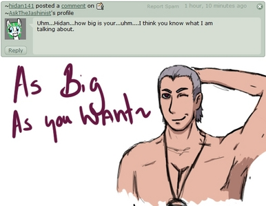 No. I don't think Hidan would have been thinking of me last night. //shot with random image