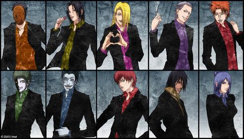"The Akatsuki..........and the Wrammy Boys xD I like them all that way (yes, even Konan) expect Zetsu and Kakuzu ^^"". segundo thought: Expect Hidan too. After all he is ur's xD"
