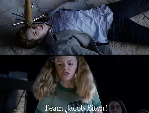 Jacob. I would say ask this on the twilight spot,but its asked every damn día there.