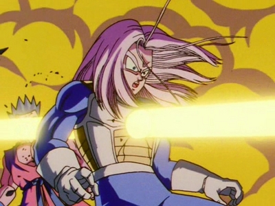 Beam= your stupidity Boy= Trunks, my husband. This fist=to your face.