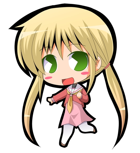 This is my inayopendelewa character and this is her as a chibi (Nagi Sanzenin from Hayate no Gotoku!):