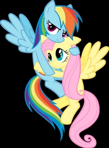 Currently Fluttershy and 彩虹 Dash. Yep.