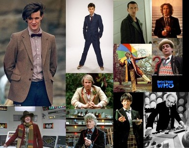 Doctor Who!! All of his regenerations.