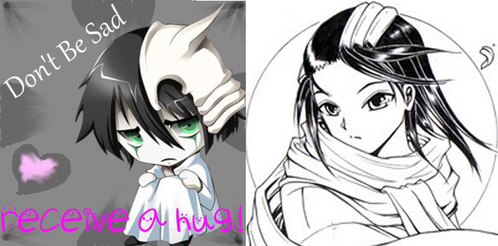 Ulquiorra e Byakuya!!! They're so cute!! ^_^