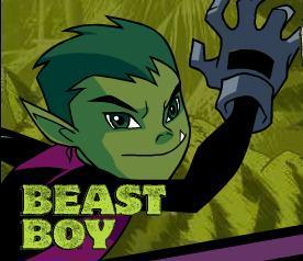 um the power that beastboy has... which is turning into animales and talking to them.