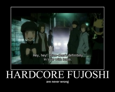 Erika from durarara!! And..She is right. XD