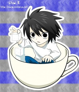 Tea... but I ran out. *Looks down* .... So this is why my thee always disappears...