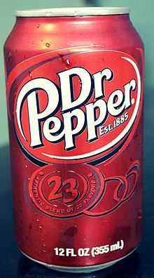 iced thee of dr.pepper (or just plain water)