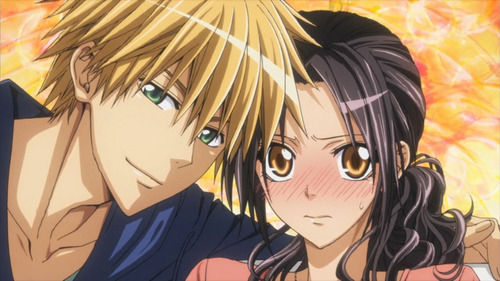 "I don't like Maid Sama ^^"" The reasons are: 1. Everyone is way to perfect. Misaki is good at sports and shes cute. While Usui is perfect at almost anything, sports, martial arts, instruments, almost everything, and all the girls are chasing him. 2. Doesn't really have a plot to it. Its basically about the popular guy finding out that the Prez of his school works at a Maid cafe. They fall in love. END OF STORY 3. I don't like romance (crappy reason I know)"