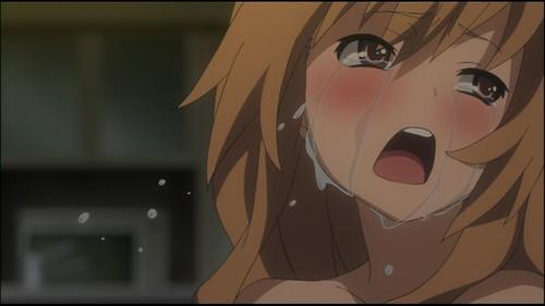 Taiga from Toradora crying :(