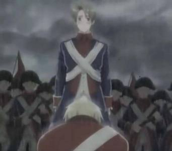 England from hetalia crying (he's the one in the red.) I wanna cry at this scene ;A;
