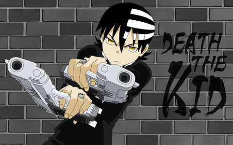 Kiddo-kun from Soul Eater~ ^^ He shoots with his pinkies 哈哈