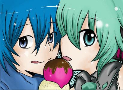 Kaito and Miku :D