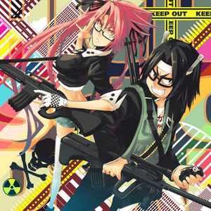Saya Takagi and Kouta Hirano from Highschool of the Dead