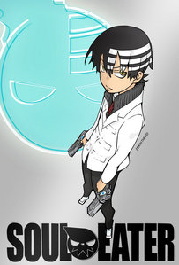 death the kid from soul eater! and he has 2 guns...upside down!