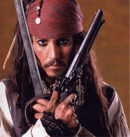 cos he`s hot ,funny and a pirate.