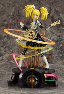 She might not be a character from an anime, but Kagamine Rin. At least she has a cool 'meltdown' figurine~ I wish I had it, it's so awesome!