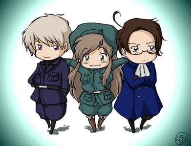 I'm not sure if she's dressed like a guy but Prussia thought that hungary was a guy when she wore that before