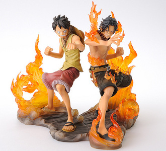 Luffy and Ace from One Piece!