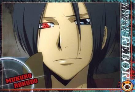 mukuro rokudo has a very powerfull eye  (katekyo hitman reborn)