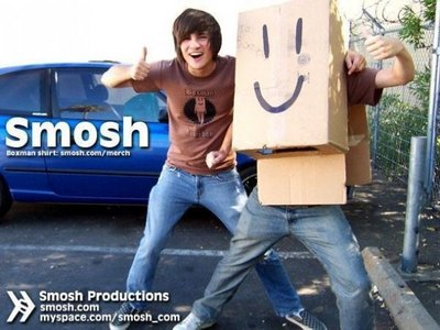 Smosh I don't have anything against them personally, but at the same time, I don't see why people think they're funny.