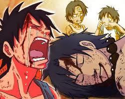 one piece ace dead i't was just to sad i couldn't stop it was soo sad for luffy