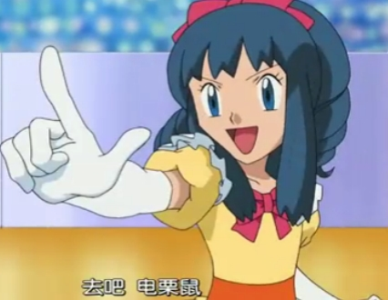 Hmm..how about Hikari-chan from Pokemon! she has Blue hair!